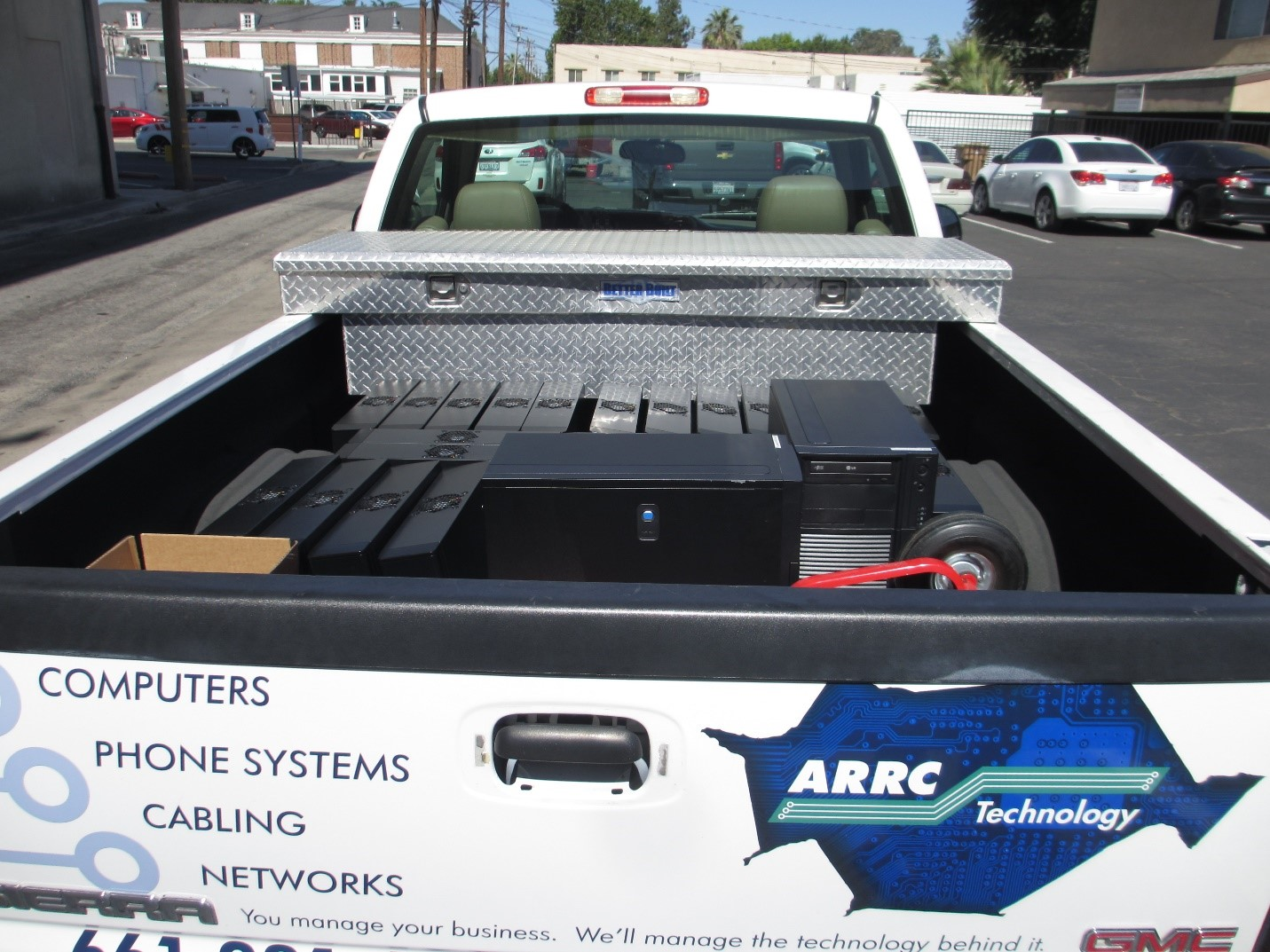 ARRC Technology truck with computers