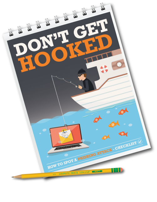 Cover to Don't get hooked - How to spot a phishing attack - Checklist